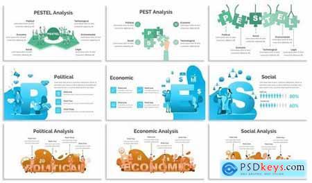 PESTEL - Design Illustration for Powerpoint