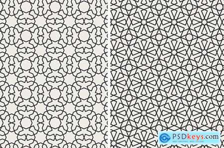 Set of Traditional Arabian Patterns