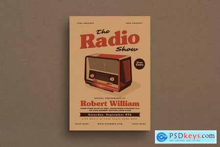 Vintage Radio Event Flyer