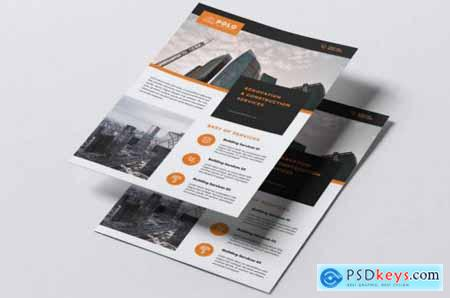 POLO Construction Flyer & Business Card