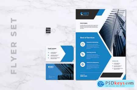 VOCT Creative Agency Flyer & Business Card