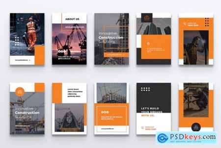 POLO Construction Pinterest Template
