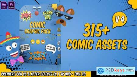 Comic Titles Speech Bubbles Emoji Stickers Flash FX Graphic Pack V4 22645319