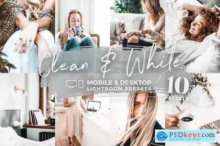 10 Clean & White Mobile Presets 5142951