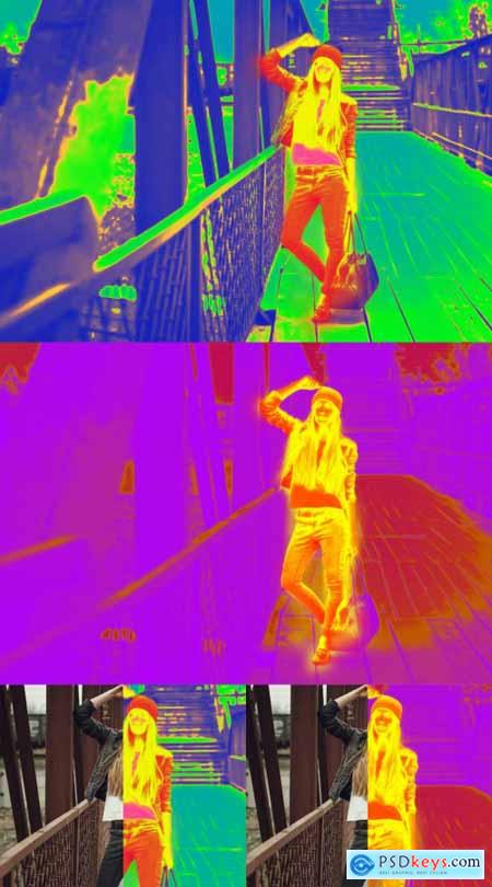 Thermal Camera Photo Effect 363654753