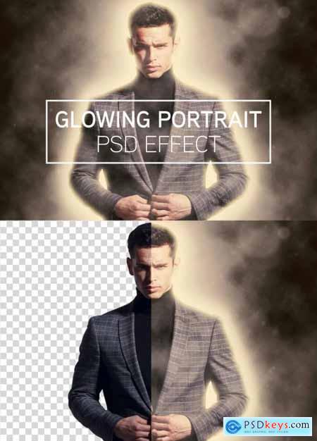 Glowing Portrait Photo Effect 363654179