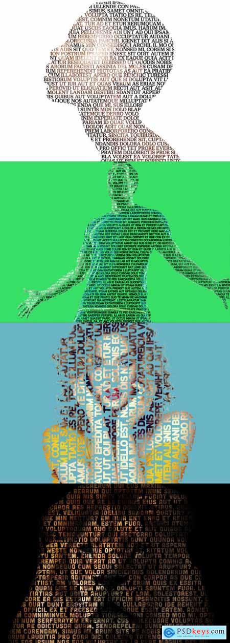 Image Text Mask Photo Effect Mockup 363640758