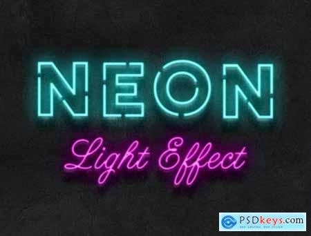 Neon Light Text Effect Mockup 363618041