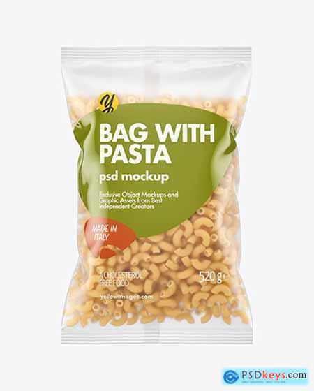 Matte Plastic Bag With Chifferini Pasta 63419