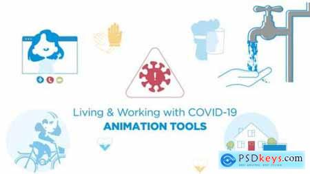 Living & Working with COVID-19 Animated graphics 26718623