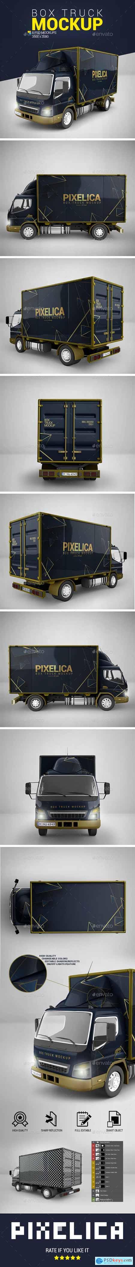 Box Truck Mockup 23680434