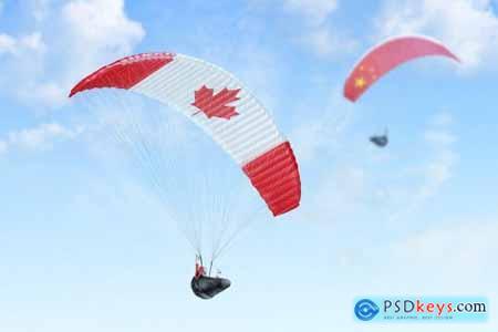Paraglider Mockups Set 5151237