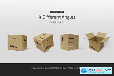 Square Paper Box Mockup Set 5156431