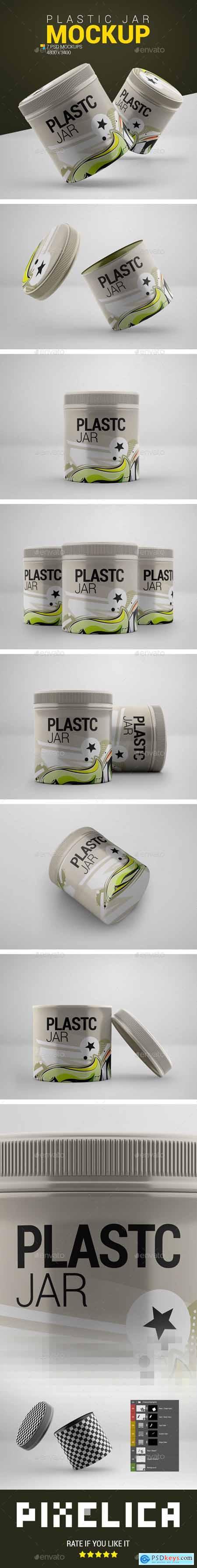 Plastic Jar Mockup 23991692