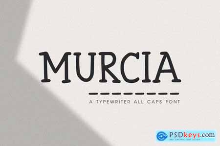 Murcia - The Typewriter All Caps Font