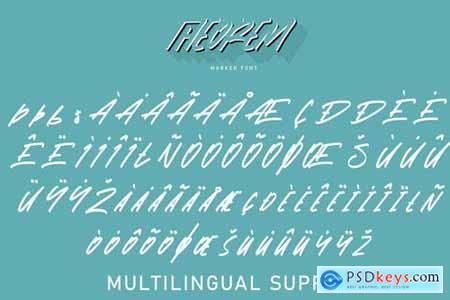 Theorem Marker Font