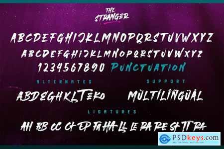 Stranger Font Duo + Extras