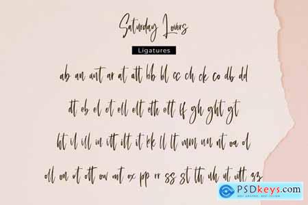 Saturday Lovers - Classy Handwritten