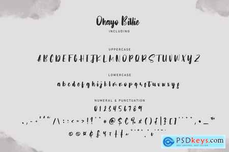 Ohayo Billie Handwritten Font