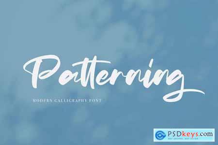 Patterning Font