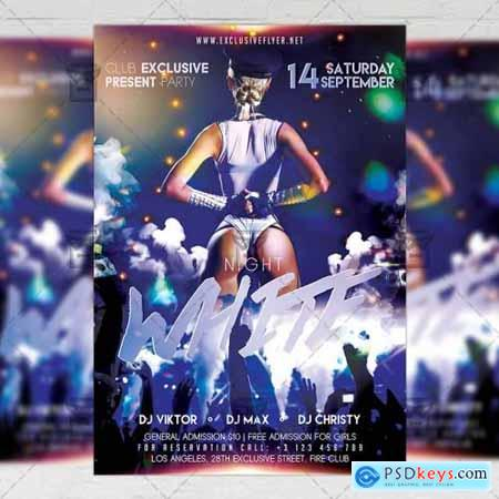 White Night - Club A5 Flyer Template