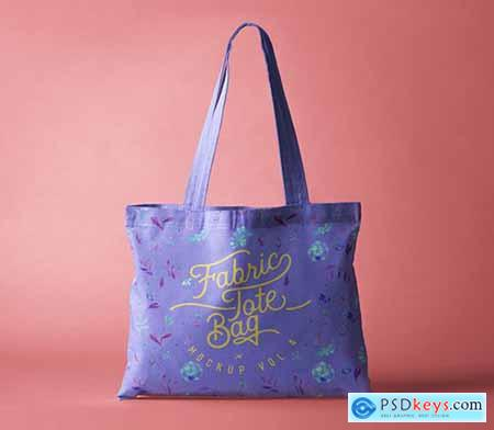 Psd Tote Bag Fabric Mockup Vol 4