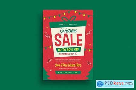 Holiday Christmas Sale Flyer