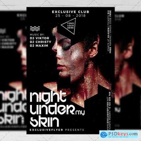 Under My Skin Night Flyer - Club A5 Template