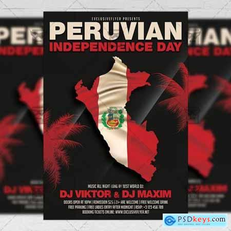Peruvian Independence Day Flyer – Club A5 Template