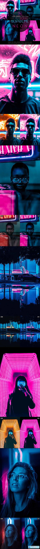 Supreme Neon - Premium Photoshop Action 27161588