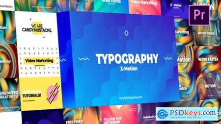 X-Motion Typography Premiere Pro 27595711