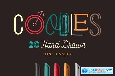 Coodles Hand Drawn Font Family 4855574