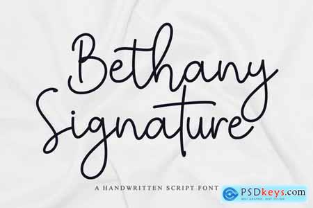 Bethany Signature - Handwritten Script Font