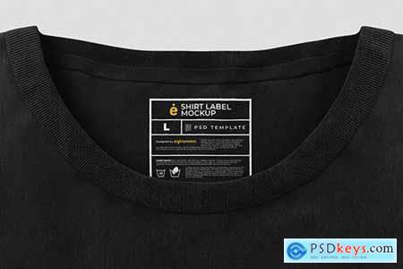 T-Shirt Label Mockup Template