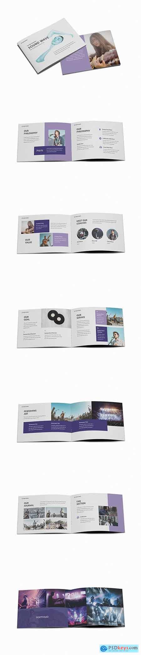Music A5 Brochure Template