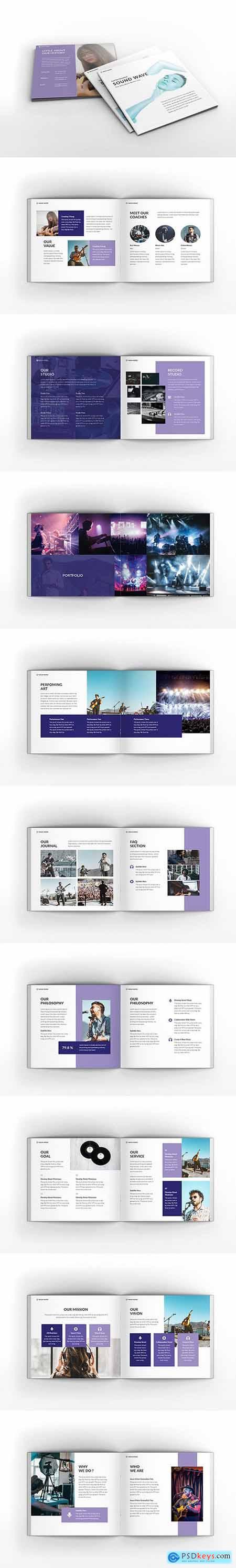 Music Square Brochure Template