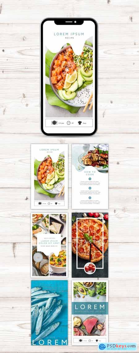 Food Lovers Social Media Stories Kit Layout 364824388