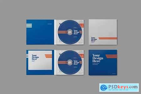 CD Cardboard Jewel Case Mockup