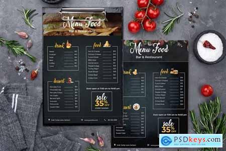Restaurant- Fast Food - Menu Template