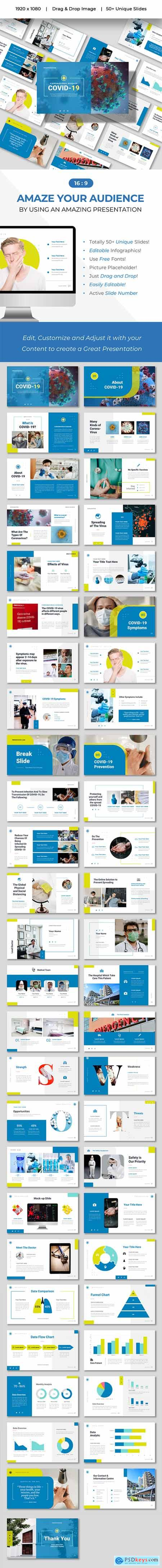 COVID - Clean Presentation Powerpoints Template 26597843
