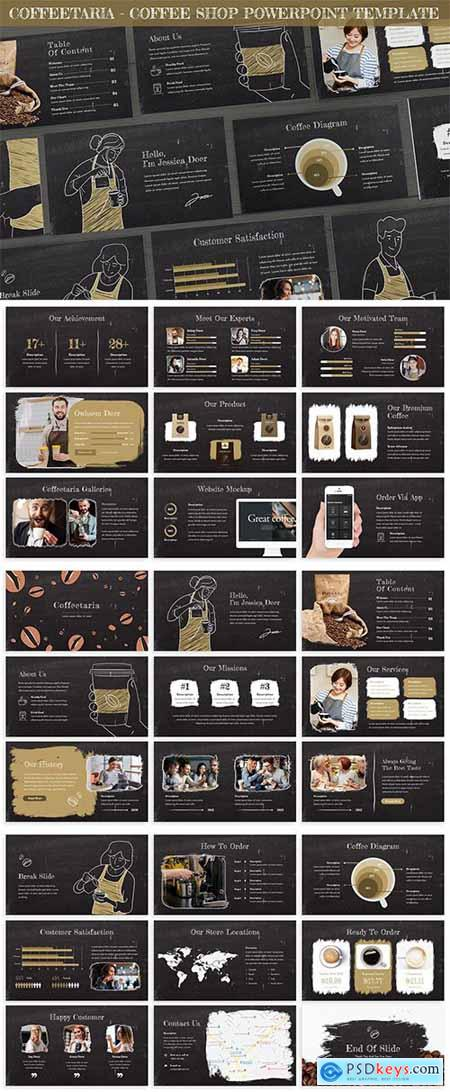 Coffeetaria - Coffee Shop Powerpoint Template