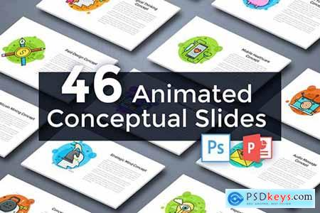 46 Animated Conceptual Slides for Powerpoint p