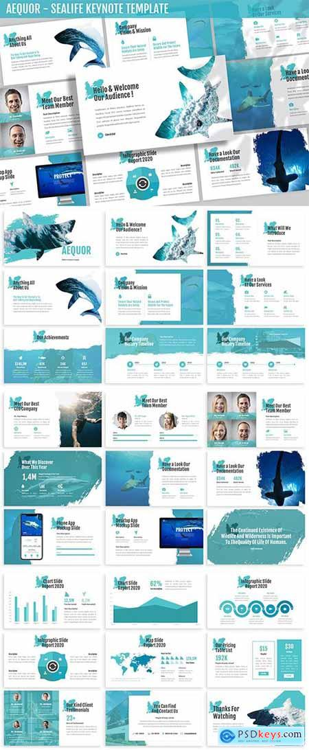 Aequor - Sealife Keynote Template