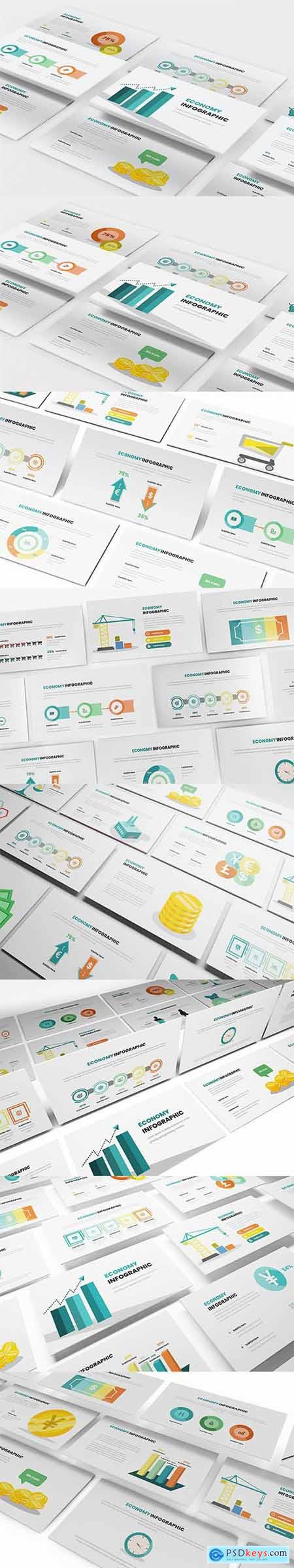 Economy Infographic Powerpoint, Keynote and Google Slides Templates