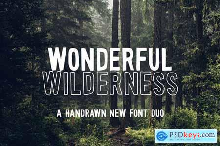 Wonderful Wilderness Font Duo