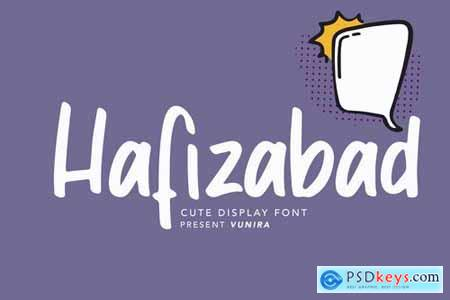 Hafizabad Cute Display Font