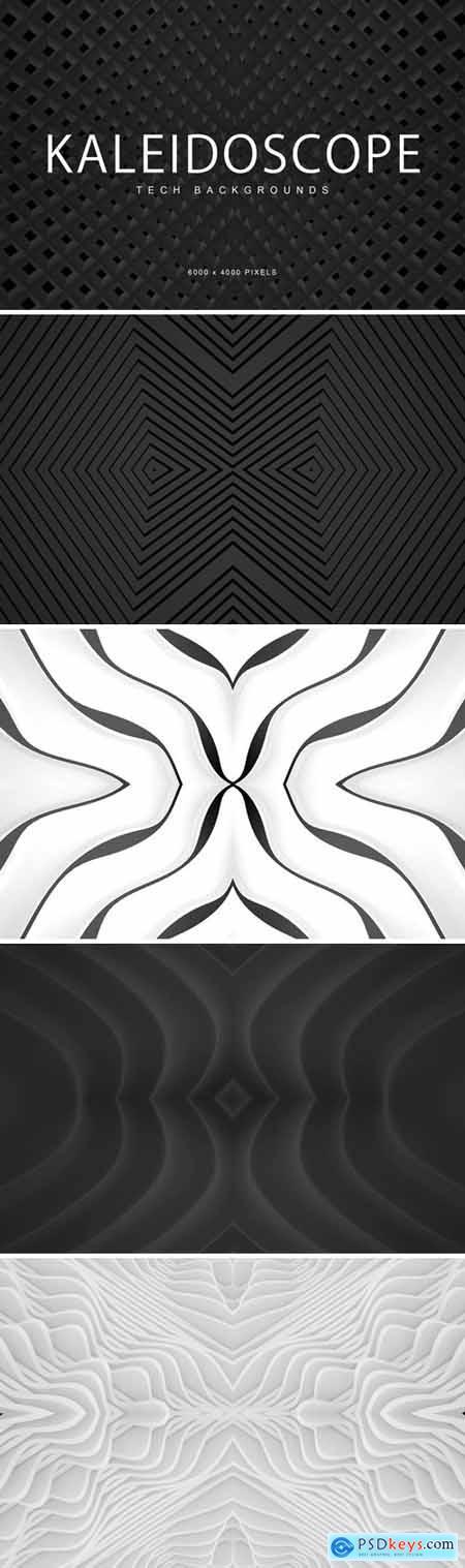 Tech Kaleidoscope Backgrounds 1