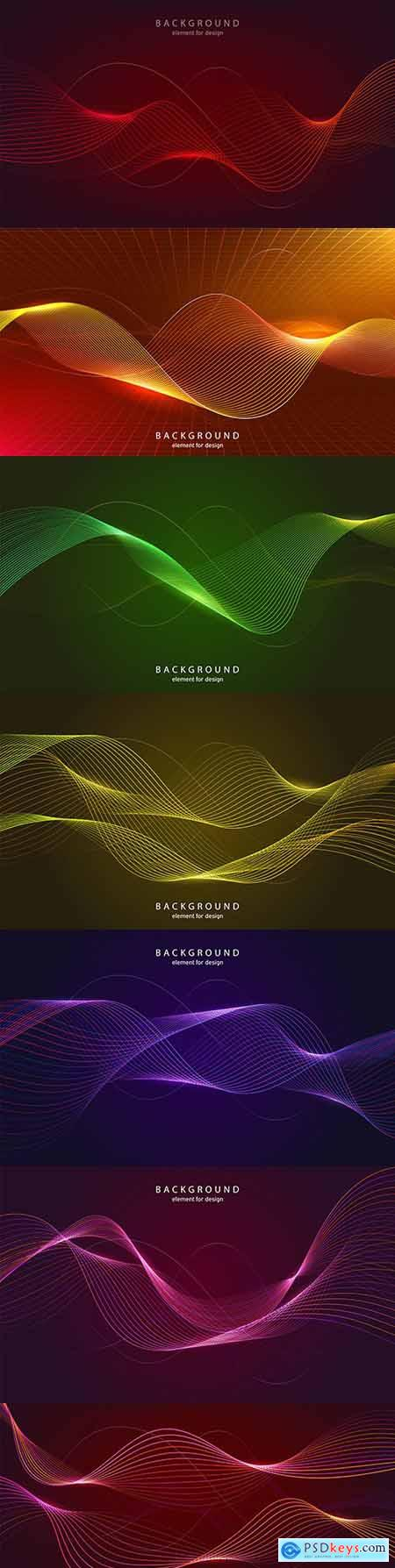 Background abstract design blend line and luminous effect