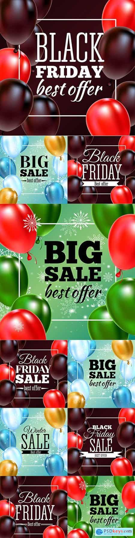Black Friday and big sale special design illustration 27