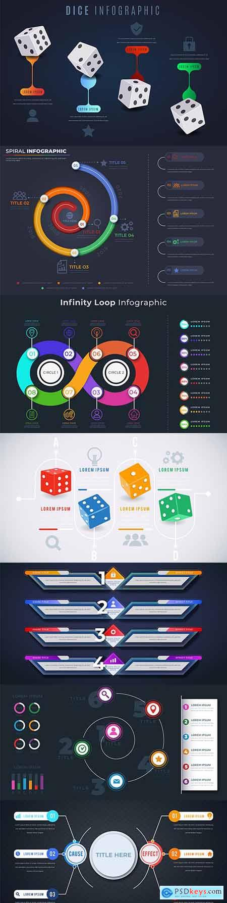 Business infographics options elements collection 152